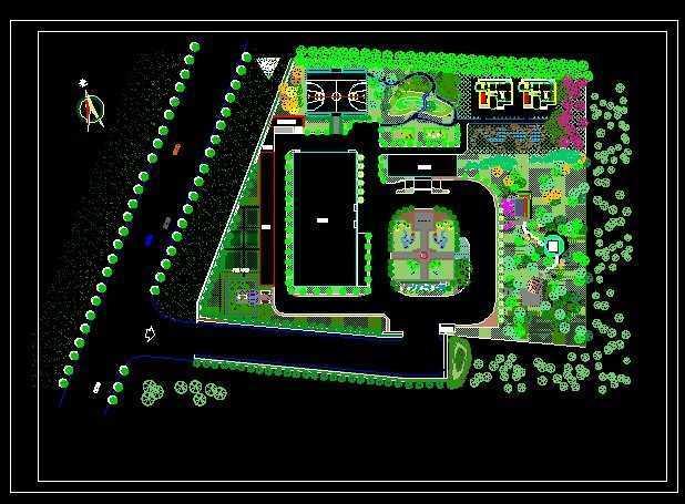 某工厂绿化设计平面图