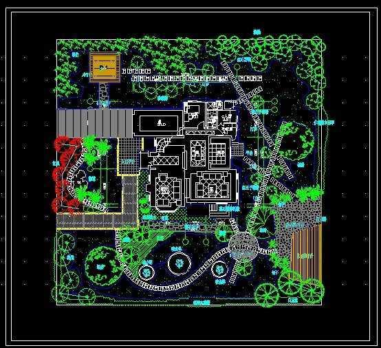 私家花园景观绿化设计图免费下载 - 景观规划设计