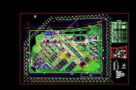 大学校园景观设计总平面图