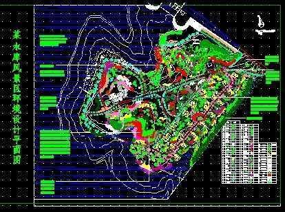水库风景区景观规划图