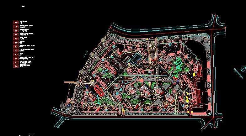 连云港怡三维格式景观TIF弧形施工图(0404BC景苑家如何绘制全套造型图片