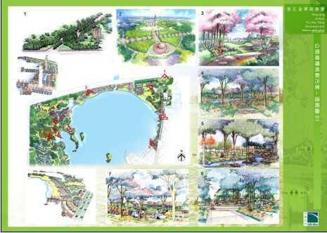 金华湖海塘景观规划免费下载 - 景观规划设计 - 土木
