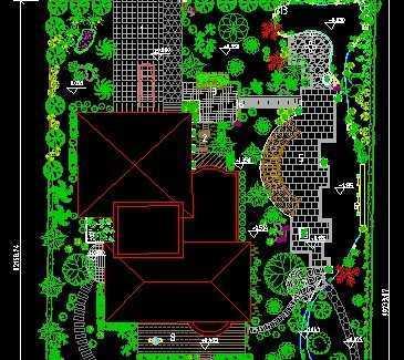 某别墅平面设计图免费下载 - 景观规划设计 - 土木