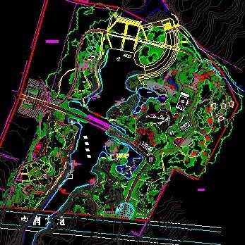 公园景观规划平面布置图
