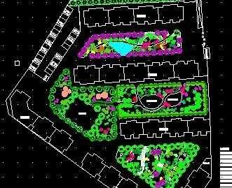 某住宅区庭院绿化种植平面图纸免费下载 园林绿化及施工图片
