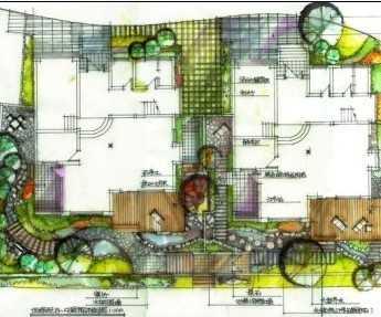 小区设计手绘图纸