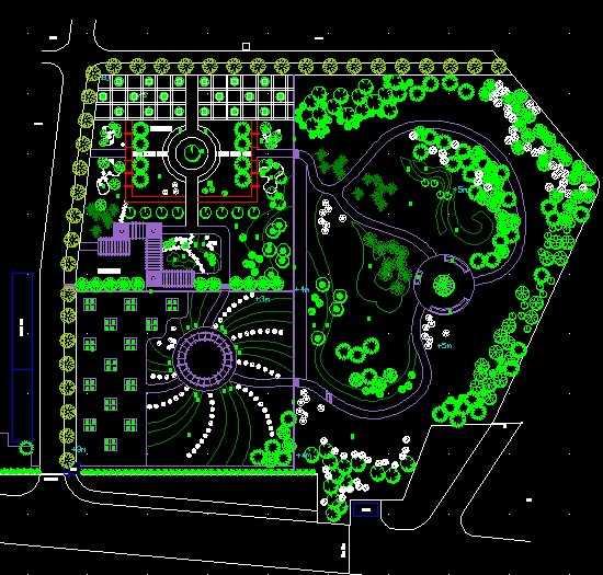 活动场地绿化平面设计及效果图