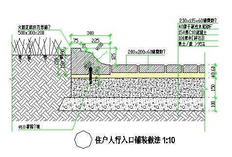 汀步手绘平面图