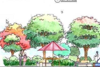 欧式别墅景观设计方案图