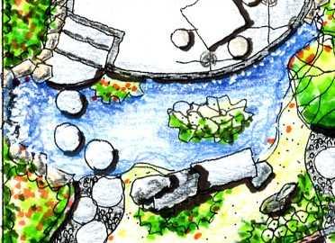 别墅手绘平面图