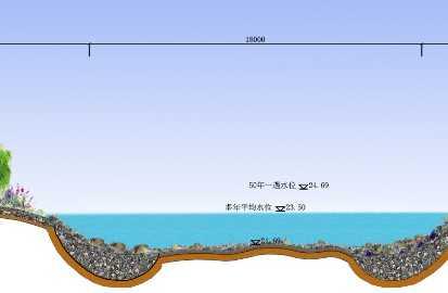 河道断面图免费下载 - 景观规划设计 - 土木工程网