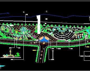 某镇滨江公园景观及绿化设计图图片