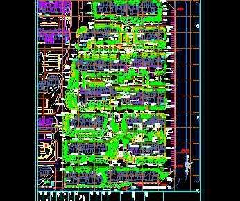 某小区植物配置规划平面图