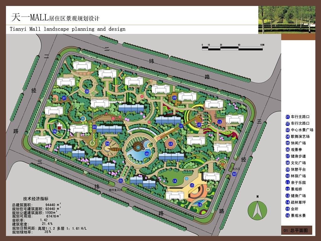某居住区景观规划设计图