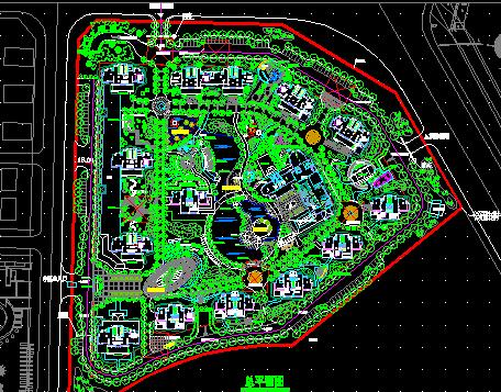 住宅小区景观规划设计平面图免费下载