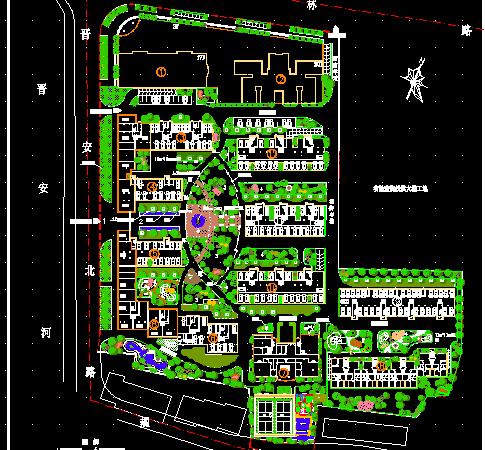 某住宅小区景观环境设计总平面布置图