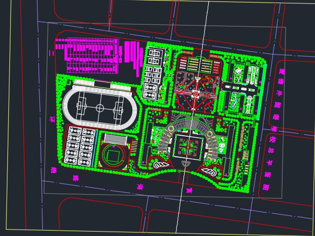 学校园林景观规划设计图