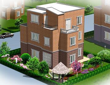 别墅庭院绿化景观设计图(含效果图)