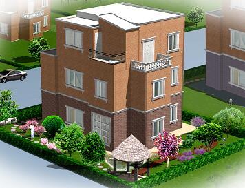 别墅庭院绿化设计图纸