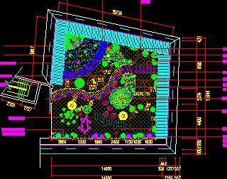 屋顶花园绿化景观设计图纸