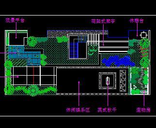 屋顶花园景观绿化设计图纸1