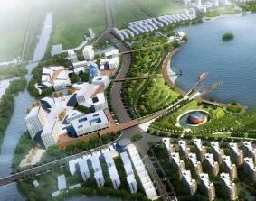 """""""一轴一湖""""城市滨湖景观设计方案文本"""