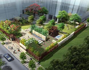某住宅区中心庭院景观方案设计文本