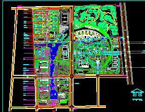某学院总体景观规划设计图纸