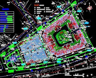 29.2亩住宅小区绿化规划设计图纸