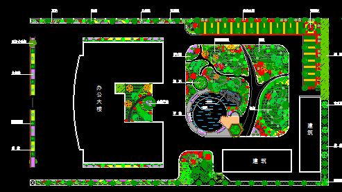 行政办公楼庭院景观设计规划图