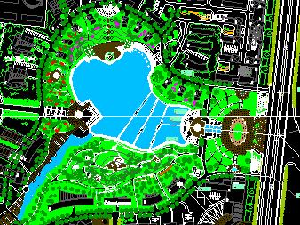 临湖景观绿化规划平面图