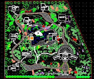 某休闲区园林规划平面图
