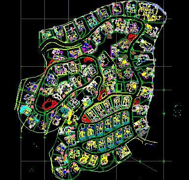 居住区环境景观总平面图