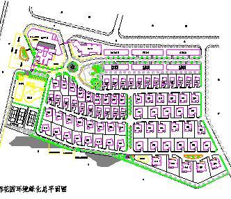居住区环境绿化总平面规划图