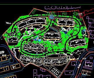 某居住区环境景观规划设计图纸