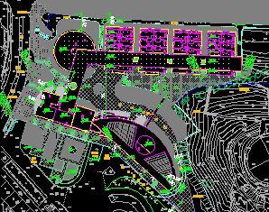 城市综合体区域景观规划设计图纸