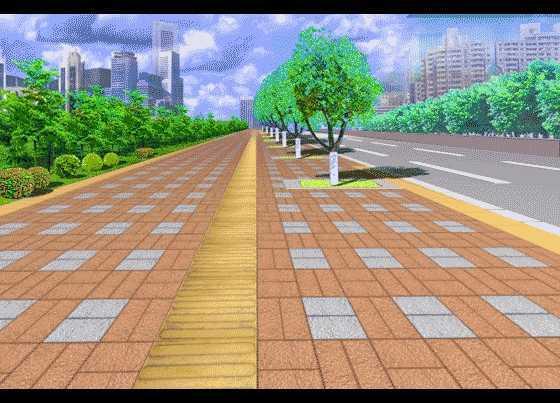 人行道铺装效果图图片