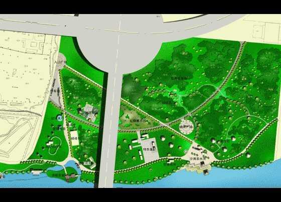 某滨河公园规划平面图