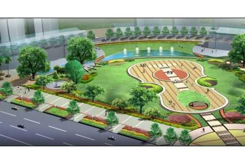 小型广场景观效果图免费下载 - 园林景观效果图