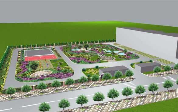 小广场园林景观效果图
