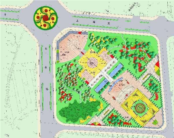 广场平面图免费下载 - 园林景观效果图 - 土木工程网
