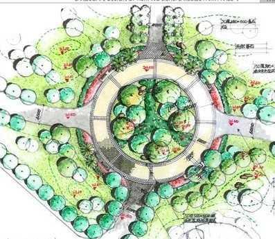 生态广场设计平面图免费下载 - 园林景观效果图