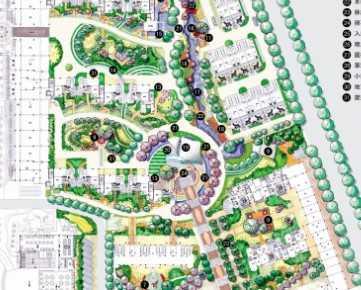 小区景观规划总平面图免费下载 园林景观效果图
