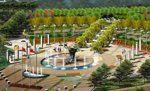 小广场效果图免费下载 - 园林景观效果图 - 土木工程网