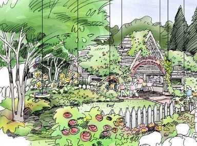 儿童公园手绘效果图