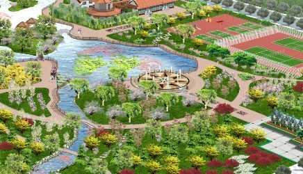 某市游园景观效果图