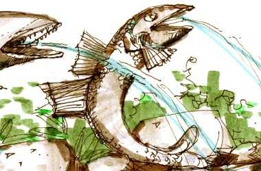 温泉设计手绘图免费下载 - 园林景观效果图 - 土木