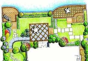 高清庭院设计手绘别墅图内别墅秘密图片