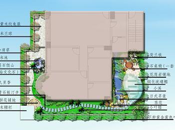 天台花园景观设计效果图