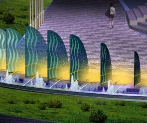 7种景观喷泉效果图